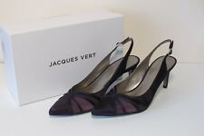 New Jacques Vert Purple  Mesh Slingback Shoes  ~  Size 7 (40) ~ RRP £99     (rr)