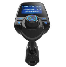 Bluetooth FM Transmitter USB Car Charger For Samsung Galaxy S8+ LG V20 G6 iPhone