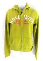 HOLLISTER Womens Hoodie Jacket S Small Green Cotton & Polyester