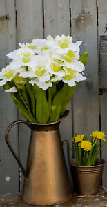 Decorative Rustic Copper Pitcher Vase Flower Pot Tabletop VINTAGE INSPIRED DECOR