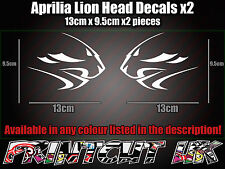 Aprilia Factory Lion Head DECAL STICKERS Fairing RS50 RS125 RSV4 Tuono Racing