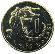 (P44) - Gambia - 1 Dalasi 1971 - Krokodil Crocodile - Proof - KM# 13