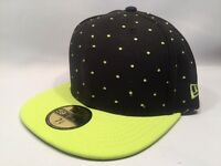 New Era Pindotz Black & Cyber 59Fifty Fitted Cap Hat $35 Size 7 3/8