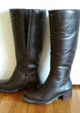 ANDRE ASSOUS 39M EU 8.5 US Legendary Chocolate Brown Tall Boots Leather Heels BN