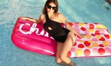 """THE POOL ROOM LARGE INFLATABLE """"CHILL"""" PILL POOL FLOAT SWIMMING RAFT 72"""" X 29"""""""