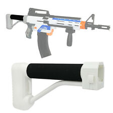 Men-Gun MOD Tactical White Fixed Skeleton Buttstock Nerf Blaster Modify Dart Toy