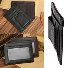 NEW Man Leather Wallet Money Clip Credit Cards ID Holder Front Pocket Thin Slim