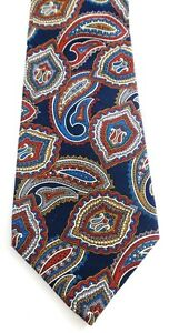Envoy Necktie Tie Paisley Black Green Red Polyester Made In USA