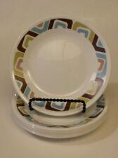 "Set of (7) CORELLE Vitrelle SQUARED Pattern Bread & Butter Plates 6 3/4"""