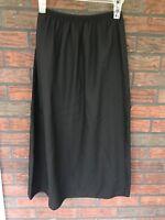 Black Half Slip Size Medium A Line Full Length Longer Elastic Waist  Formfit VTG
