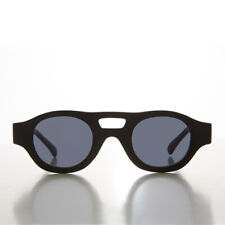Futuristic Aviator Style Vintage Sunglass Matte Black - Editor