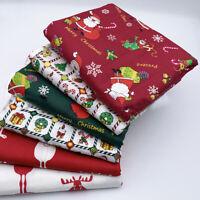 6st Weihnachten Gedruckt Baumwoll Stoff Patchwork DIY Nähen Tissue Quilting Xmas