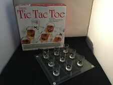 Tic Tac Toe Shot Glass Party Drinking Game Set - Glass Board and 9 Shot Glasses