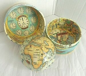 Vintage Style Globe In A Box 'Traveller's World' - Authentic Models USA