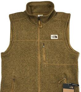 Men's The North Face Gordon Lyons Vest S Small Khaki Heather NEW $89 Full Zip
