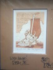 """Pocket Dragon Print """"Vacum Ace"""" Twice Signed By Real Musgrave Num. 79/150 - 1986"""