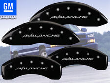 """2002-2006 Chevy """"Avalanche"""" 2500 Front Rear Black MGP Brake Disc Caliper Covers"""