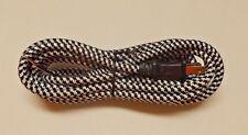 11' BLACK AND WHITE RAYON COVERED LAMP CORD SET POLARIZED PLUG 30271J