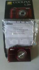 NIKON COOLPIX L26 DIGITAL CAMERA, COMPLETE, TESTED, LITTLE USE