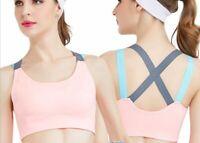 Ladies Sports Bra High Impact Wire Free Plus Size Large Workout Sports Bras Br51
