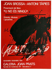 ANTONI TAPIES - FARBLITHOGRAPHIE - 1979 - Ausstellungsplakat - Signiert