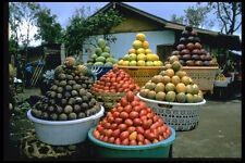 446008 Fruit Stand Lake Batur Bali A4 Photo Print