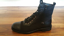 NEW Rock & Republic Icaro Men Black Italian Leather & Canvas Boot MSRP $375