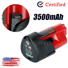 3500mAh For MILWAUKEE M12B2 M12 12V RED 2.0Ah LITHIUM BATTERY 12 VOLT LI-ION