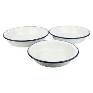 Falcon Enamel Round Pie Dishes - Set of 3 - 18cm, 20cm, 22cm.  [RND]