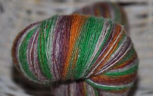 100% Schurwolle Tücherwolle Schafwolle Wolle Lace Strickgarn handgefärbt *914*