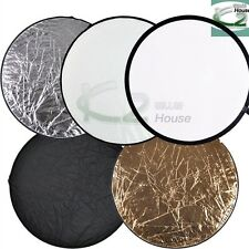 """Photography 24"""" 61cm 5 in 1 Round Collapsible Multi Disc Light Panel Reflector"""