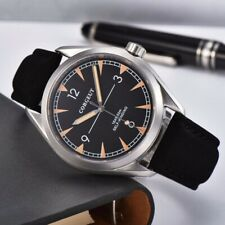 Fashion 41mm corgeut black dial sapphire glass sea-gull Automatic mens Watch 130