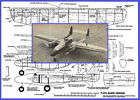 """Model Airplane Plans (UC): P-61 Black Widow 34"""" for Twin .049 Engines"""
