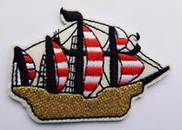 Pirate Ship Sail Ship Boat Iron On Patch Sew On Transfer