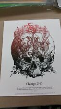 Grateful Dead Chicago Print Poster GD 50 Fare Thee Well Signed & Numbered #/114