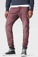 G-Star Raw 3301 Slim Fit  W30 L34 Mens Peach Stretch Twill Overdyed Denim Jeans