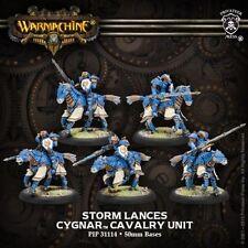 Warmachine: Cygnar: Storm Lances Storm Knight Cavalry Unit (PIP31114) NEW