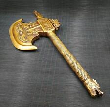 China The pure brass dragon axe furnishing town house to ward off bad luck