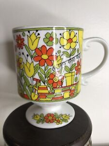 Vintage Royal Crown Arnart Smug Mug  4/176 70's Front Porch Flowers