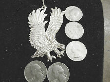 bling slver plated eagle bird animal pendant charm figaro chain hip hop necklace