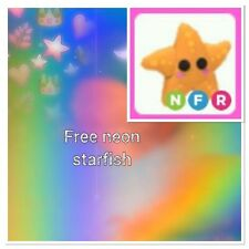FREE Roblox Adopt Me FNR Starfish Fly Neon Ride NFR W/ Purchase Of Photo