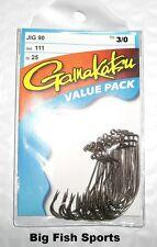 GAMAKATSU #111 Bronze 90 Degree Jig Hooks- 25 Hook Value Pack #11113-25 Size 3/0