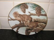 The Forest Year Plate - Pine Martens In February - Collectors Studio