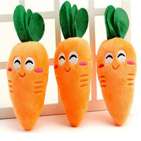 Durable Dog Chew Toy Squeaky Carrot Plush Interactive Bite Toys For Pet Puppy