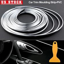 10M/32ft Silver Chrome Car Interior Door Edge Guard Molding Trim Protector Strip