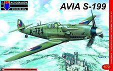 Avia S-199 pasado Guerra Luchador (Checoslovaca MKGS) 1/72 Nuevo KP/Kovozavody Prostejov