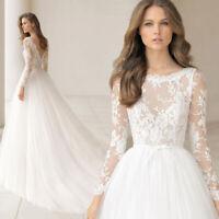 Langarm A-Linie Brautkleid Hochzeitskleid Kleid Braut Babycat collection BC947
