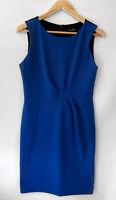 CARLA ZAMPATTI gorgeous Royal Blue & Black Detailed Pencil Dress Size 10