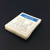 27 Monopoly Property Playing Cards 1961 Vintage Missing One Railroad