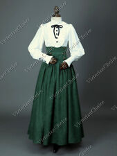 Victorian Edwardian Steampunk Gothic Maid 2Pc Dress Set Theatrical Gown D187